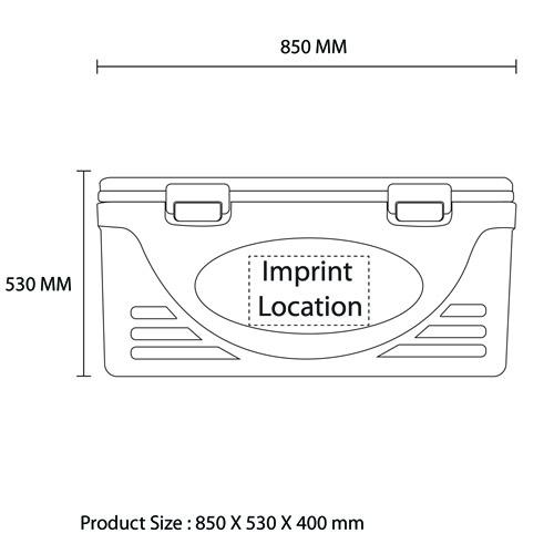 Large Outdoor Transport Cooler Imprint Image
