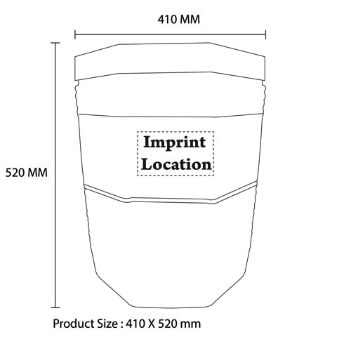 Round Shape 10 Gallon Water Cooler Imprint Image
