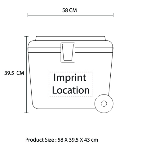 Portable Wheeled Cooler Pack Imprint Image