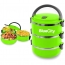 Round Heat Insulated Lunch Box