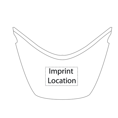 Ingot Double Wall Ice Bucket Imprint Image