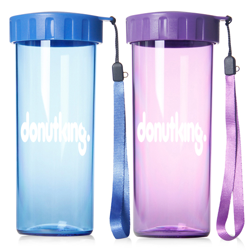 Transparent Water Bottle With Wrist Strap Image 2