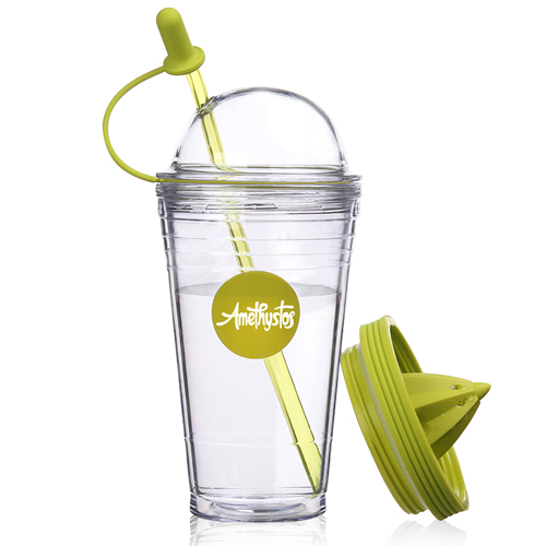 Double Wall Squeezer Cup With Straw Image 4