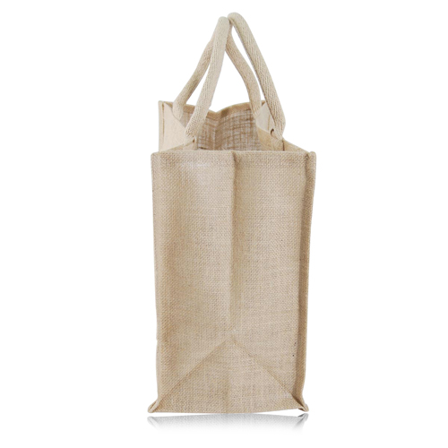 Jute Shopping Tote With Padded Handles