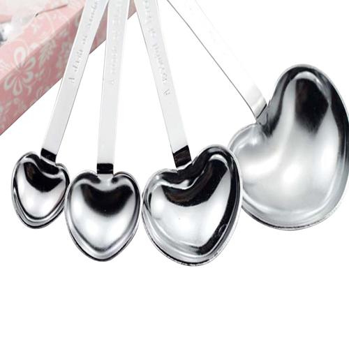 Stainless Steel Heart Shape Measuring Spoons