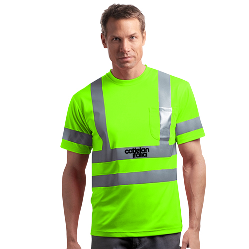 Reflective Short-Sleeves Snag T-Shirt