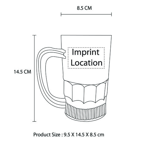 Water Inductive Luminous Beer Mug Imprint Image