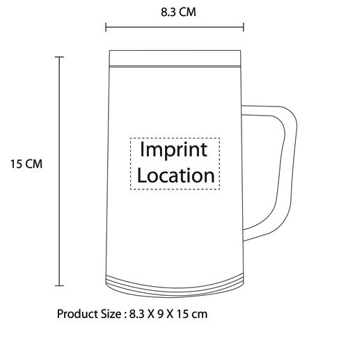 Chilled Freezer Mug Imprint Image