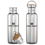 Multi-Layer Stainless Steel Bottle With Bamboo Cap