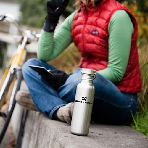 Multi-Layer Stainless Steel Bottle With Bamboo Cap Image 3