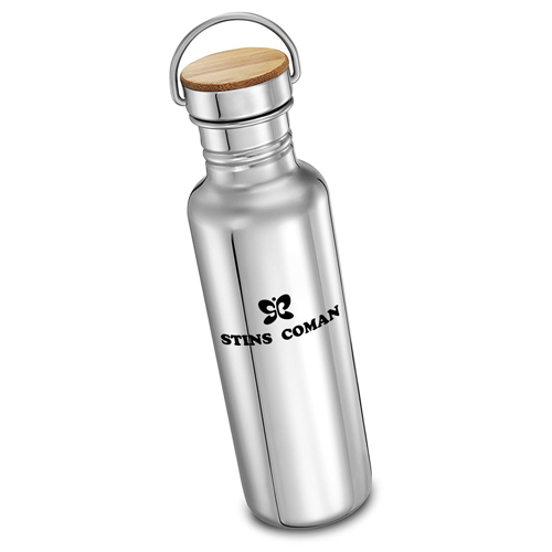 Multi-Layer Stainless Steel Bottle With Bamboo Cap Image 4