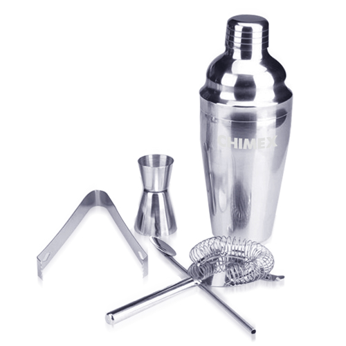 5 Stainless Steel Cocktail Shaker Set Image 1