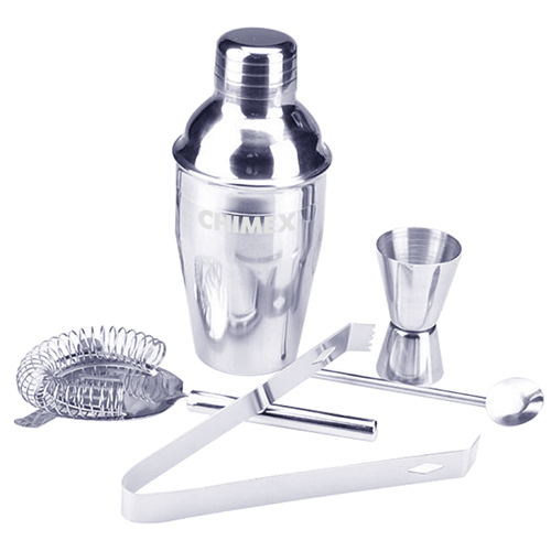5 Stainless Steel Cocktail Shaker Set Image 3