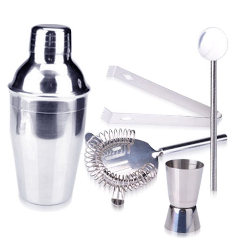 5 Stainless Steel Cocktail Shaker Set