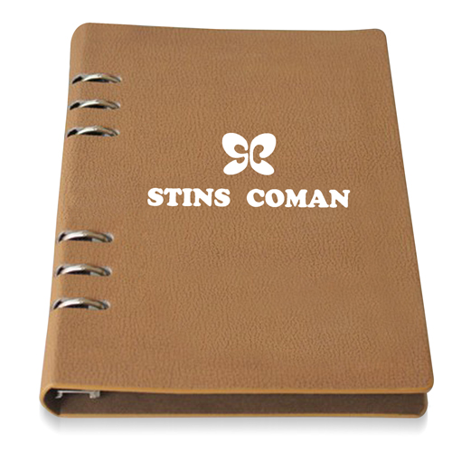 Six Steel Spiral Leather Notebook (258 x 188 Size)