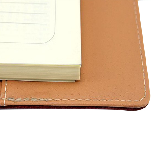Six Steel Spiral Leather Notebook (208 x 142 Size)