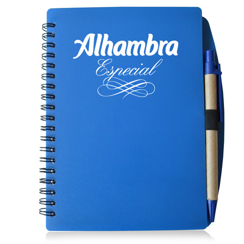 70 Sheet Spiral Notebook With Pen Image 1