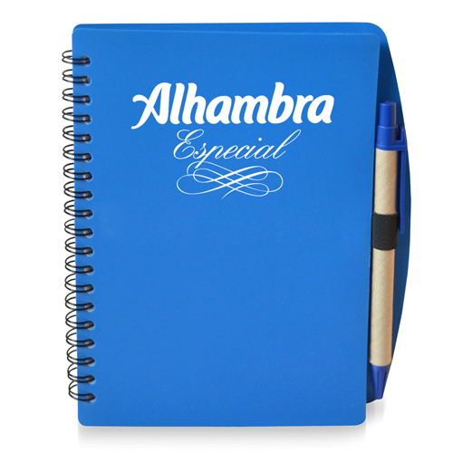 70 Sheet Spiral Notebook With Pen Image 2