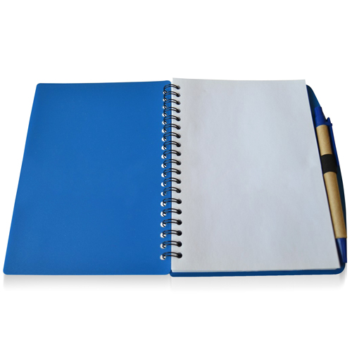 70 Sheet Spiral Notebook With Pen Image 3