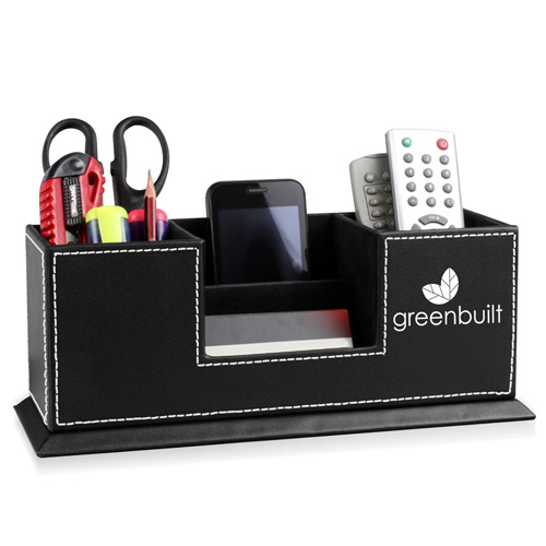 Multi-Function Leather Pen Holder