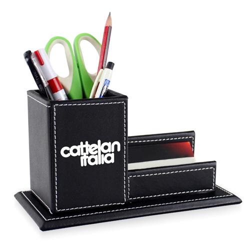 Pen Leather Business Card Holder