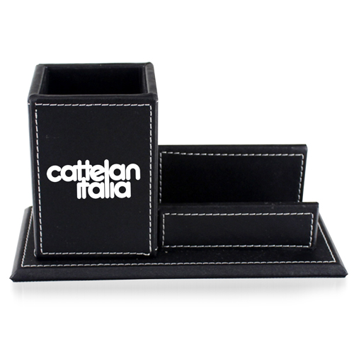 Pen Leather Business Card Holder Image 1