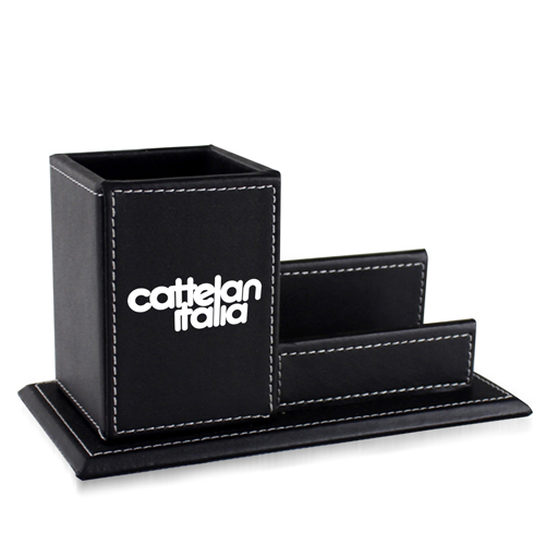 Pen Leather Business Card Holder Image 3