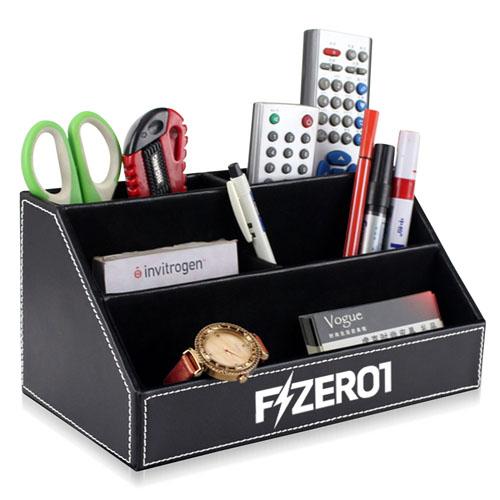 Fashion Desk Leather Pen Holder