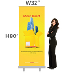 32 x 80 Inch - Retractable Banner Stand With Bag