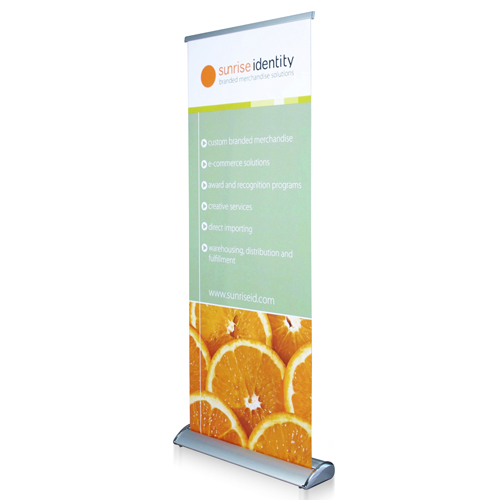Wide Bottom Aluminum Retractable Roll-Up Banner