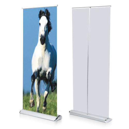 Wide Bottom Aluminum Retractable Roll-Up Banner Image 3