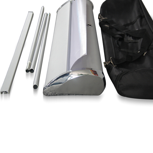 Wide Bottom Aluminum Retractable Roll-Up Banner Image 8