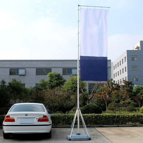 Double Sided 5M Water Base Giant Flagpole