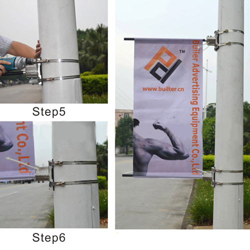 Advertising Street Pole Banners