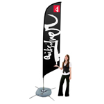 Big Feather Floating Flag Banner