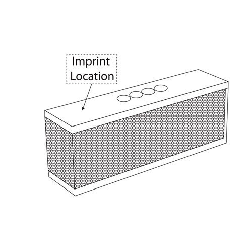 Portable Soft Touch Wireless Speaker Imprint Image