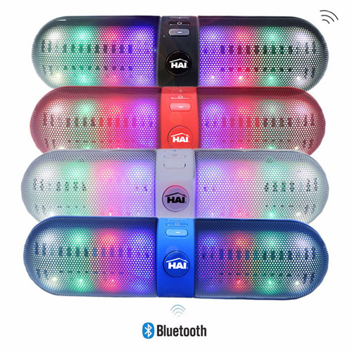 Capsule Shaped LED Bluetooth Speaker
