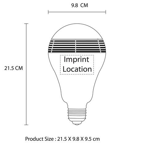 LED Bulb Wireless Bluetooth Speaker Imprint Image