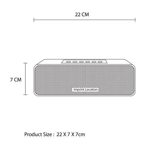 Rectangle Mini Wireless Bluetooth 4.0 Speaker Imprint Image