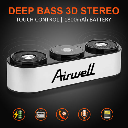Touch Control Bluetooth Deep Bass Speaker Image 2