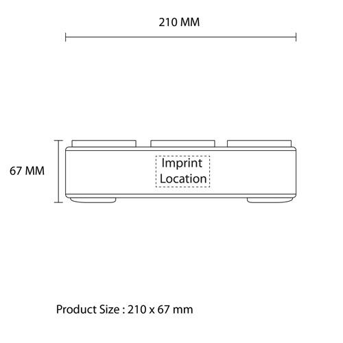 Touch Control Bluetooth Deep Bass Speaker Imprint Image