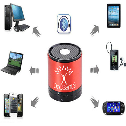 Compact Bluetooth Speaker With Microphone Image 2
