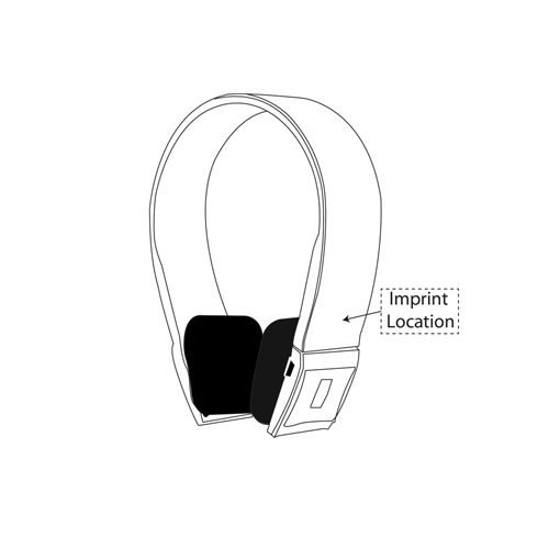 Wireless Bluetooth Headset With Stereo Audio Imprint Image