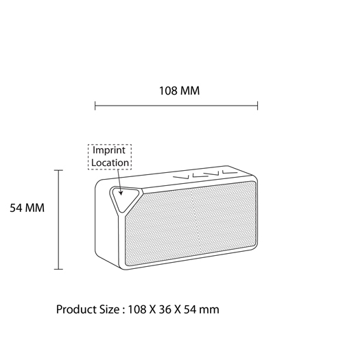 Bluetooth Wireless Speaker With Detachable Battery Imprint Image