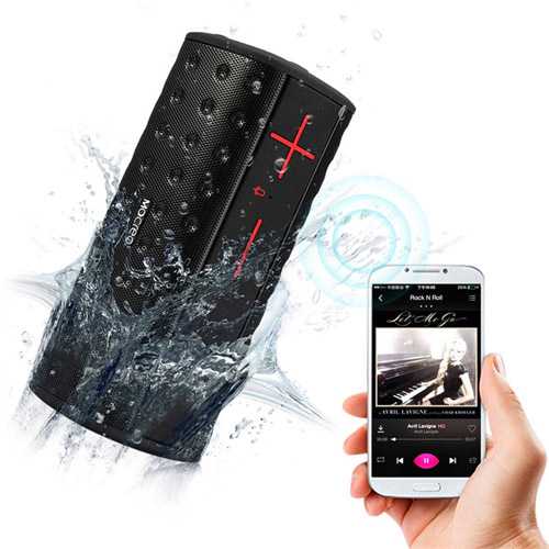 Water Resistant Wireless Bluetooth Speaker With Dual Horn