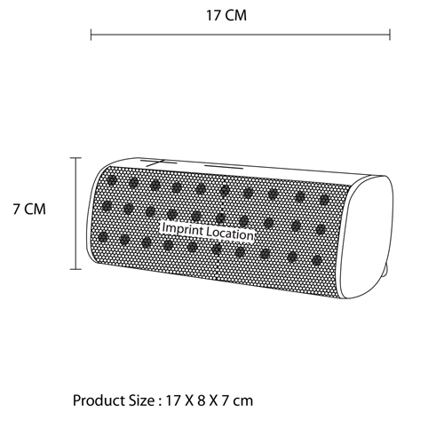 Water Resistant Wireless Bluetooth Speaker With Dual Horn Imprint Image