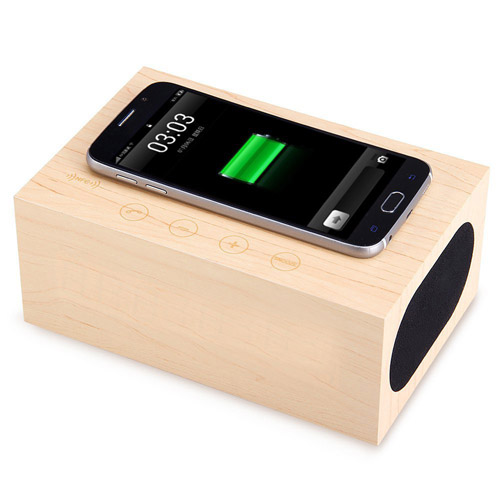 Wooden Standard Wireless Bluetooth Speaker Image 1