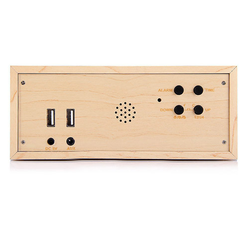 Wooden Standard Wireless Bluetooth Speaker Image 3