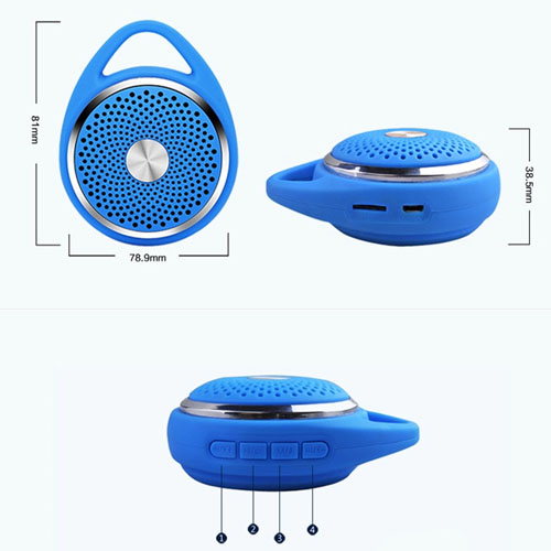 Outdoor  Round Hanging Wireless Bluetooth Mic  Speaker  Image 5