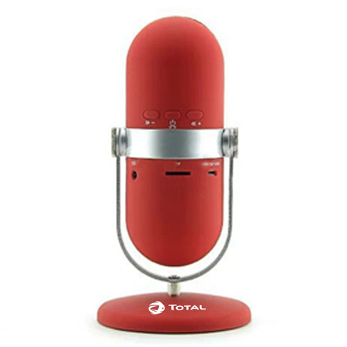 Microphone Style Wireless Bluetooth Speaker With Stand Image 2
